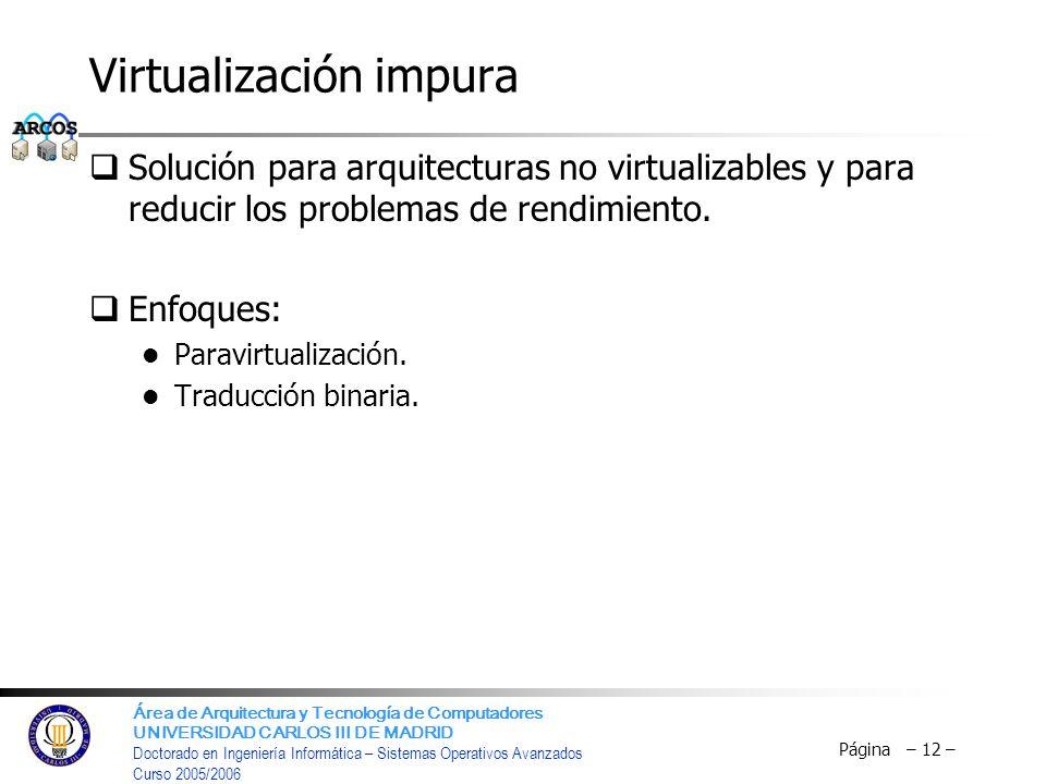 Virtualización impura