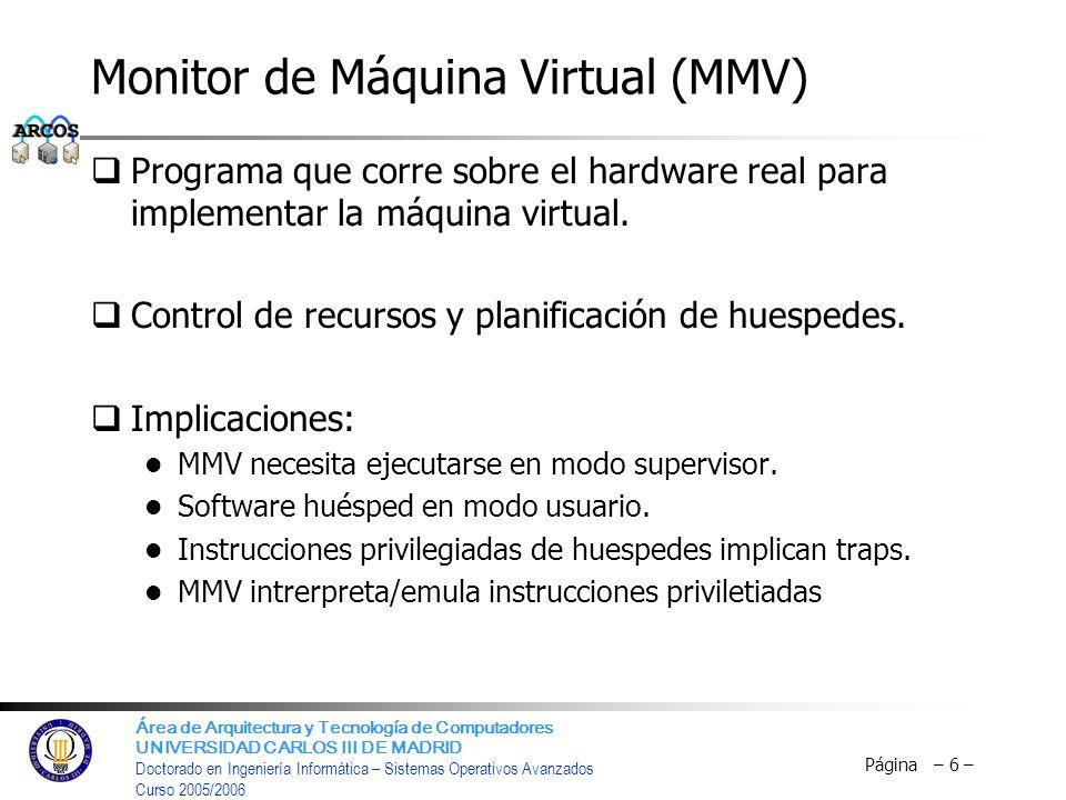 Monitor de Máquina Virtual (MMV)
