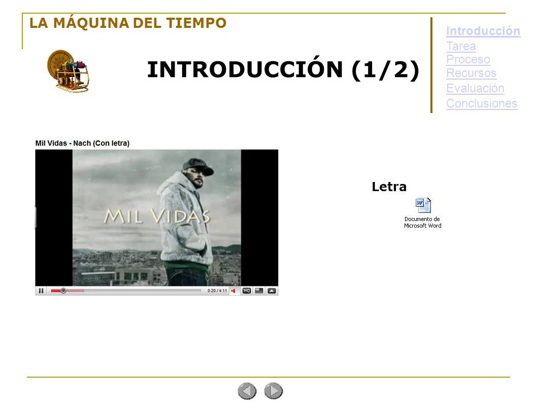 INTRODUCCIÓN (1/2) LA MÁQUINA DEL TIEMPO Introducción Tarea Proceso