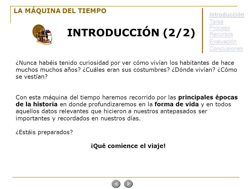 INTRODUCCIÓN (2/2) LA MÁQUINA DEL TIEMPO Introducción Tarea Proceso