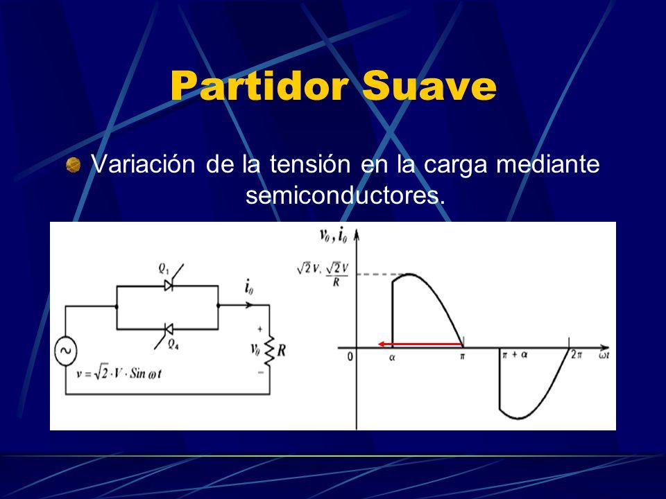 Variación de la tensión en la carga mediante semiconductores.