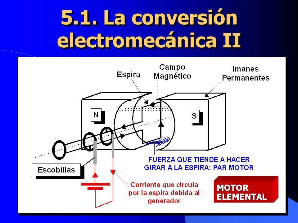 5.1. La conversión electromecánica II
