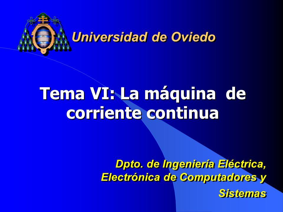 Tema VI: La máquina de corriente continua