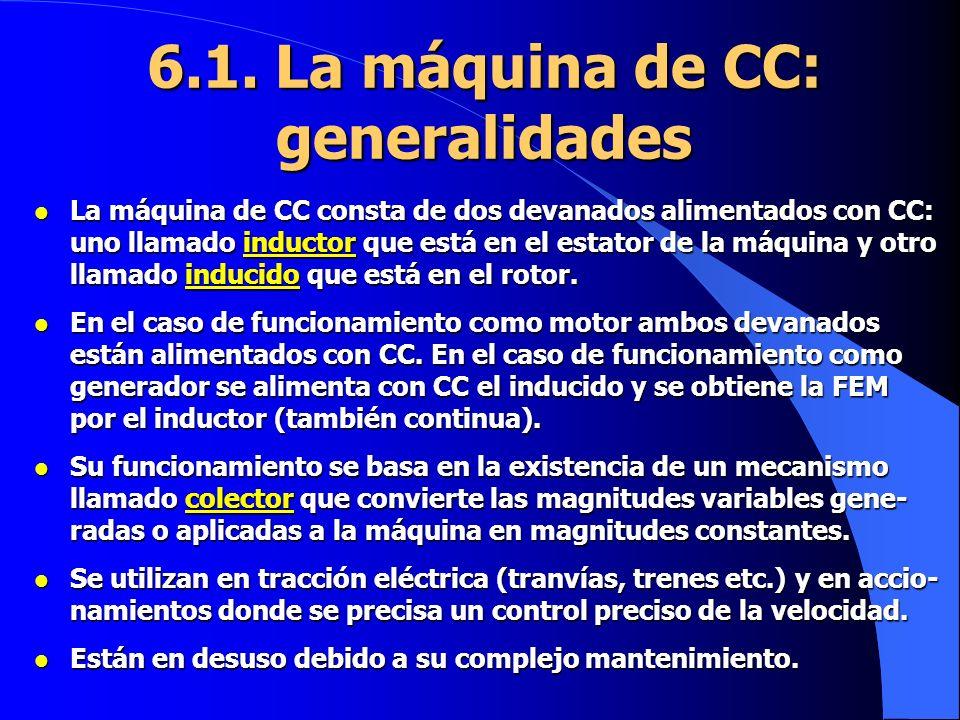 6.1. La máquina de CC: generalidades