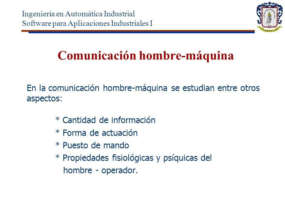 Comunicación hombre-máquina