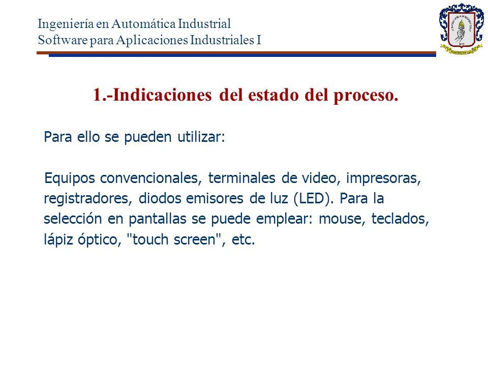 1.-Indicaciones del estado del proceso.