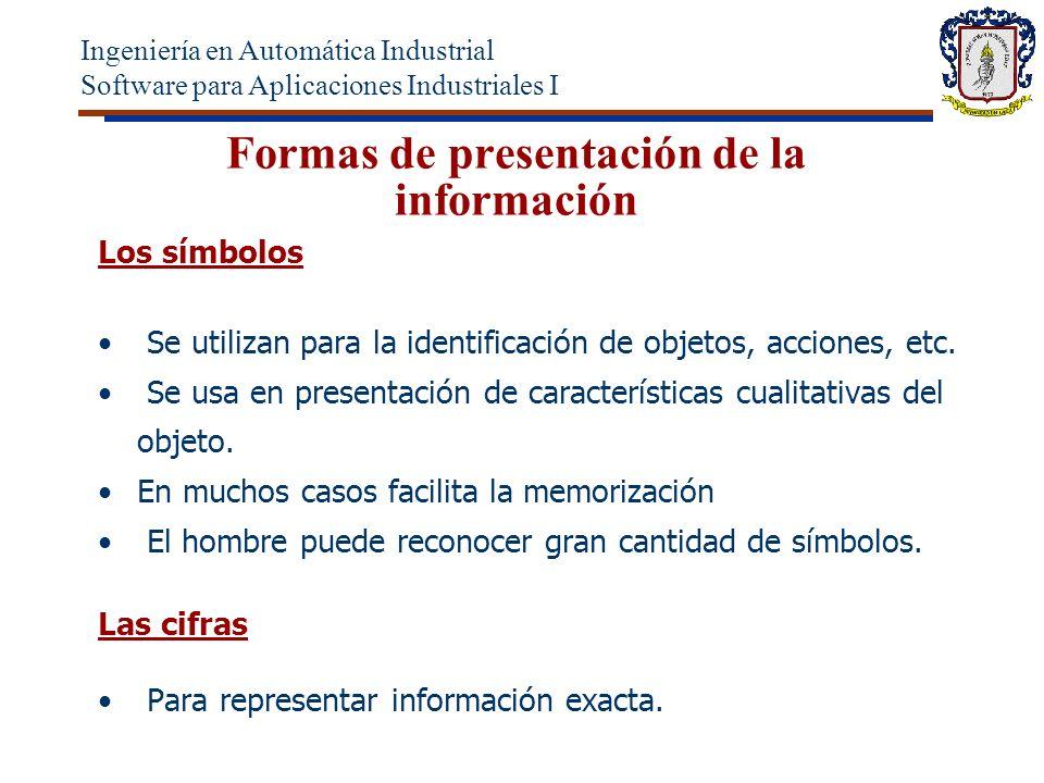 Formas de presentación de la información