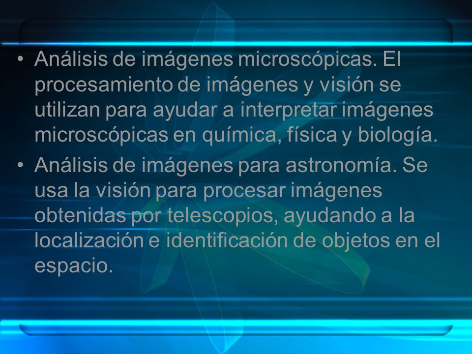 Análisis de imágenes microscópicas