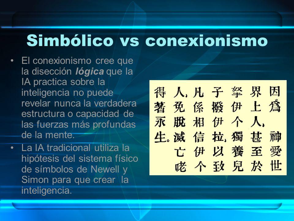 Simbólico vs conexionismo
