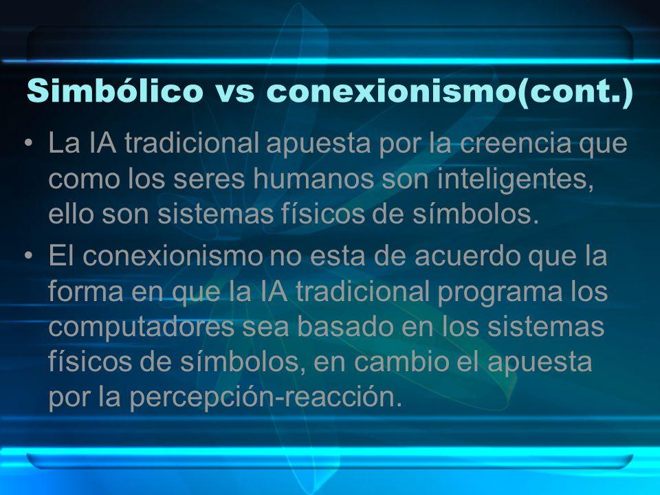 Simbólico vs conexionismo(cont.)