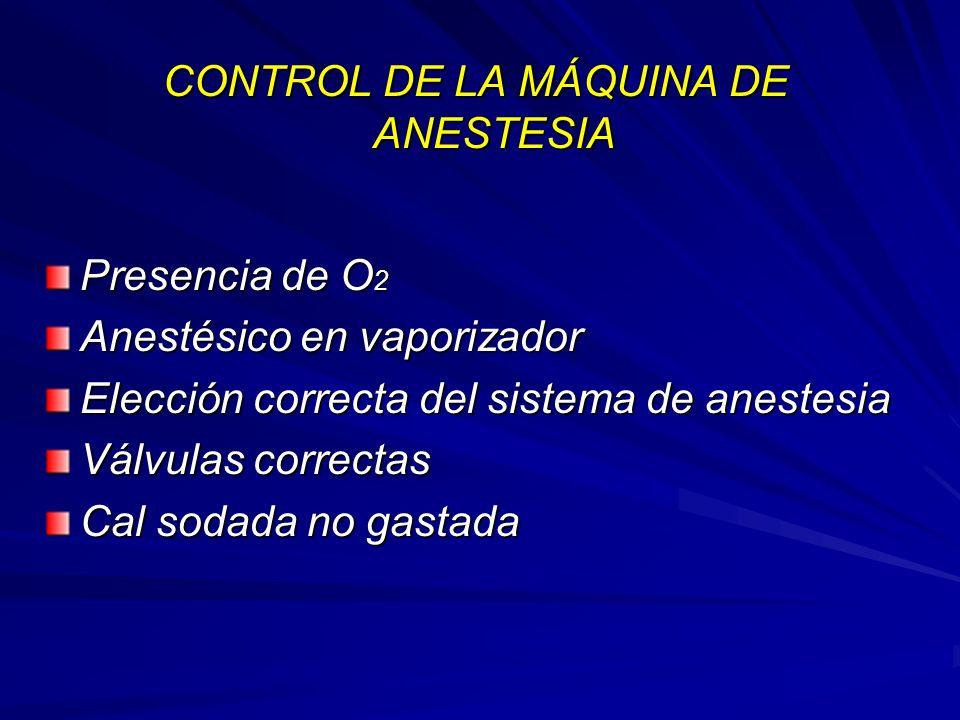 CONTROL DE LA MÁQUINA DE ANESTESIA