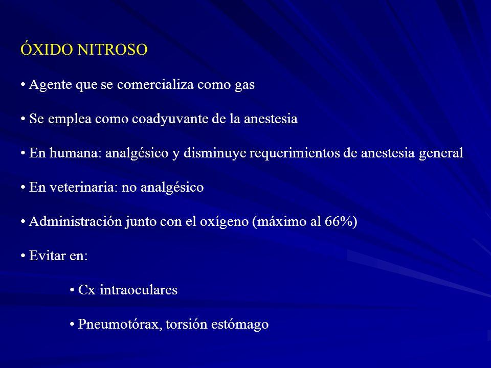 ÓXIDO NITROSO Agente que se comercializa como gas