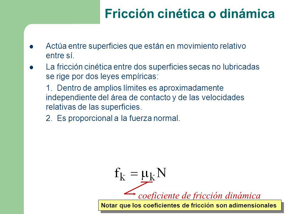 Fricción cinética o dinámica