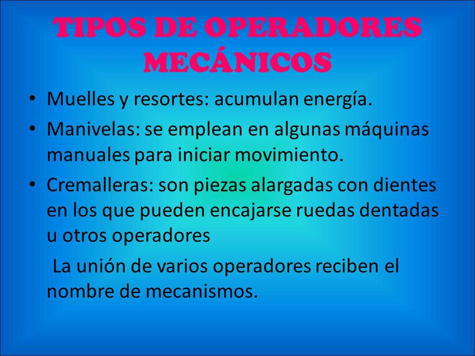 TIPOS DE OPERADORES MECÁNICOS