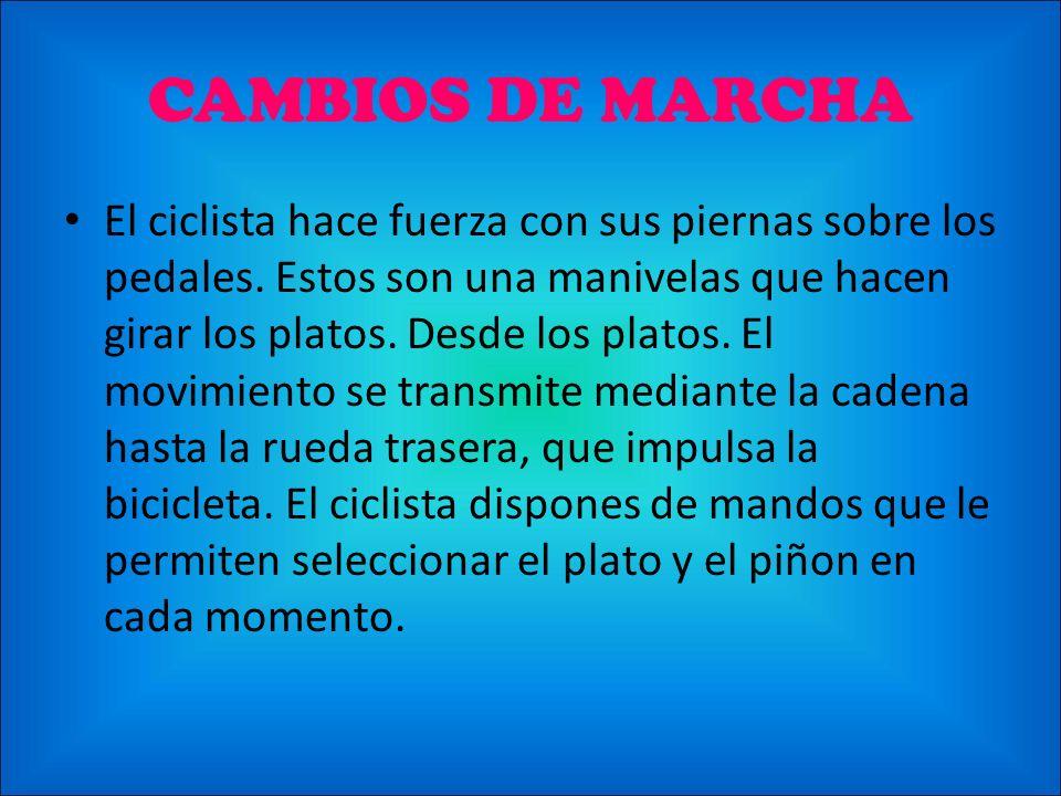 CAMBIOS DE MARCHA