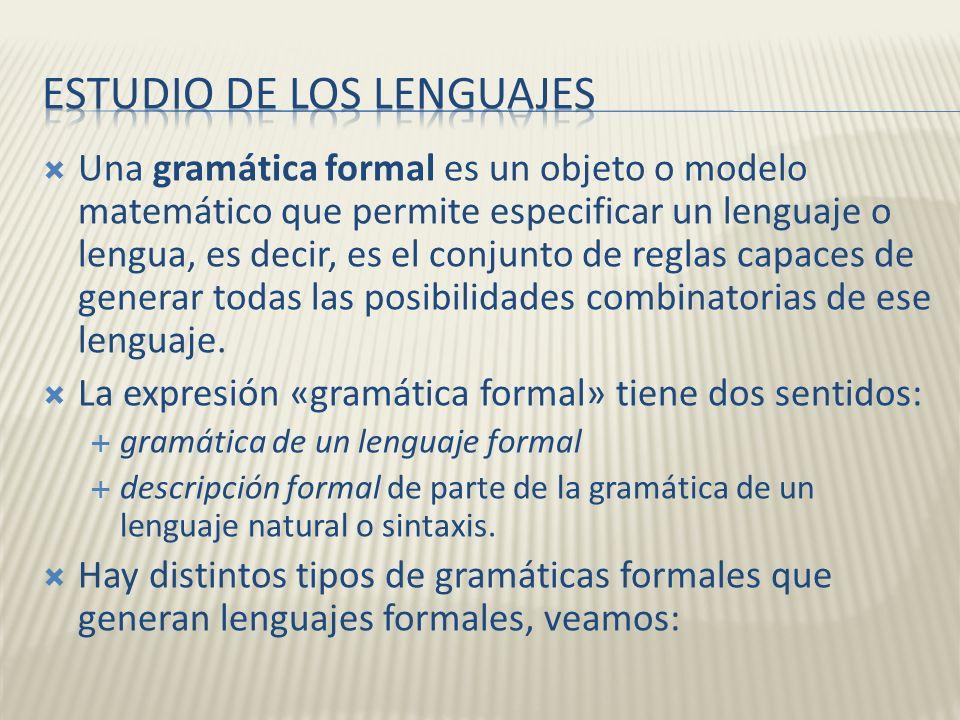 Estudio de los lenguajes