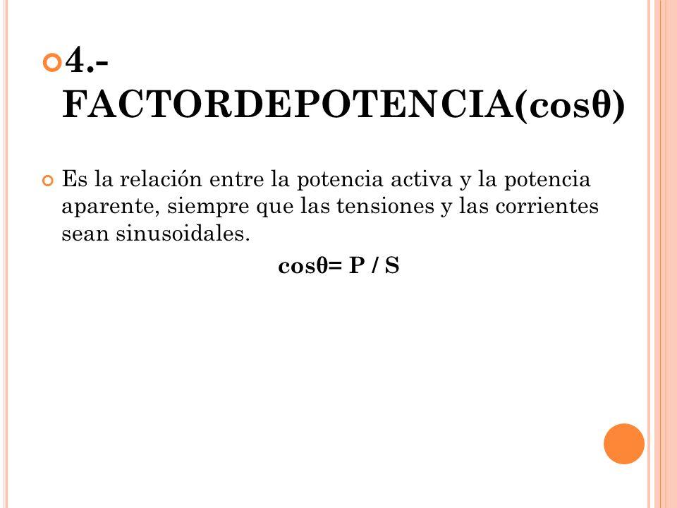 4.- FACTORDEPOTENCIA(cosθ)