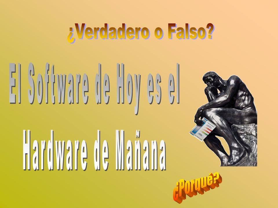 ¿Verdadero o Falso El Software de Hoy es el Hardware de Mañana ¿Porqué