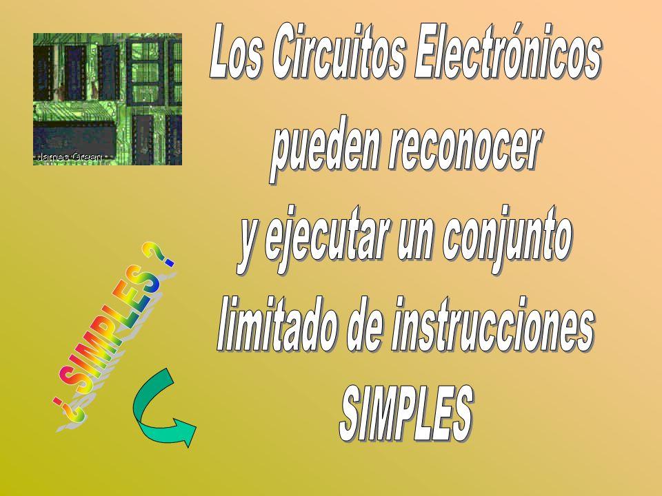 Los Circuitos Electrónicos pueden reconocer y ejecutar un conjunto