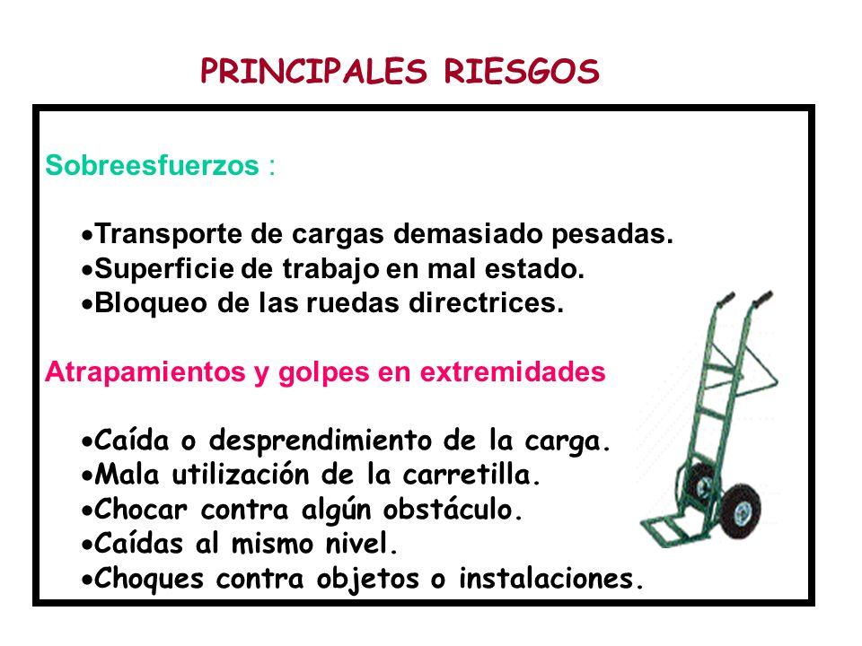 PRINCIPALES RIESGOS Sobreesfuerzos :