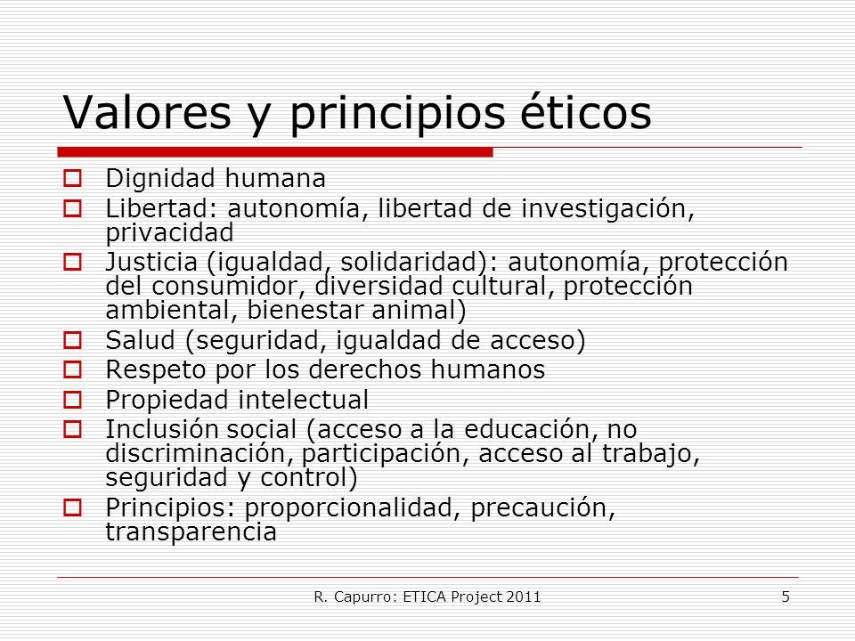Valores y principios éticos