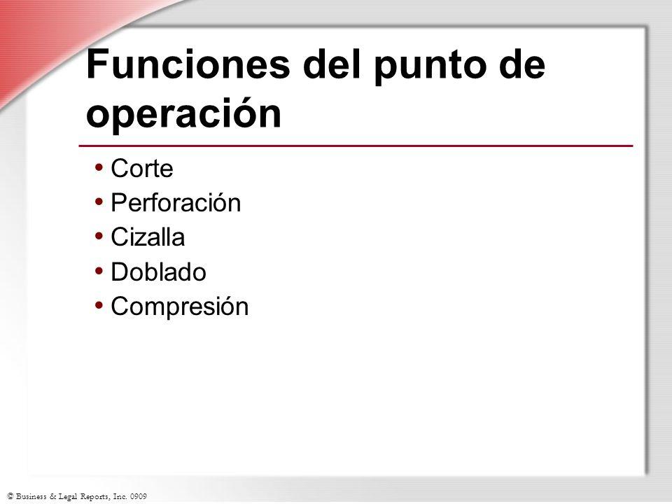 Funciones del punto de operación