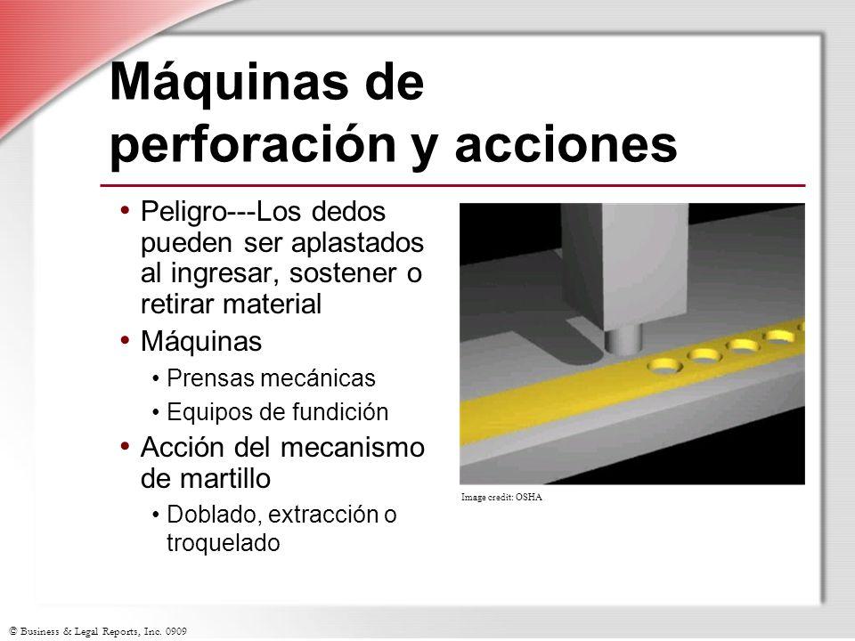Máquinas de perforación y acciones