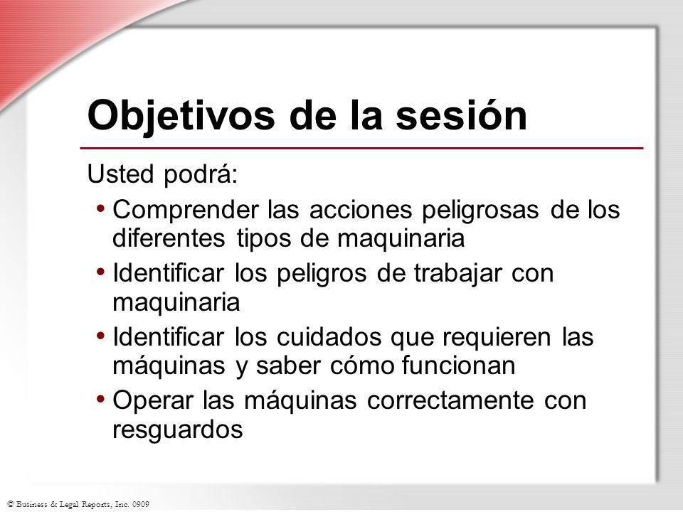 Objetivos de la sesión Usted podrá: