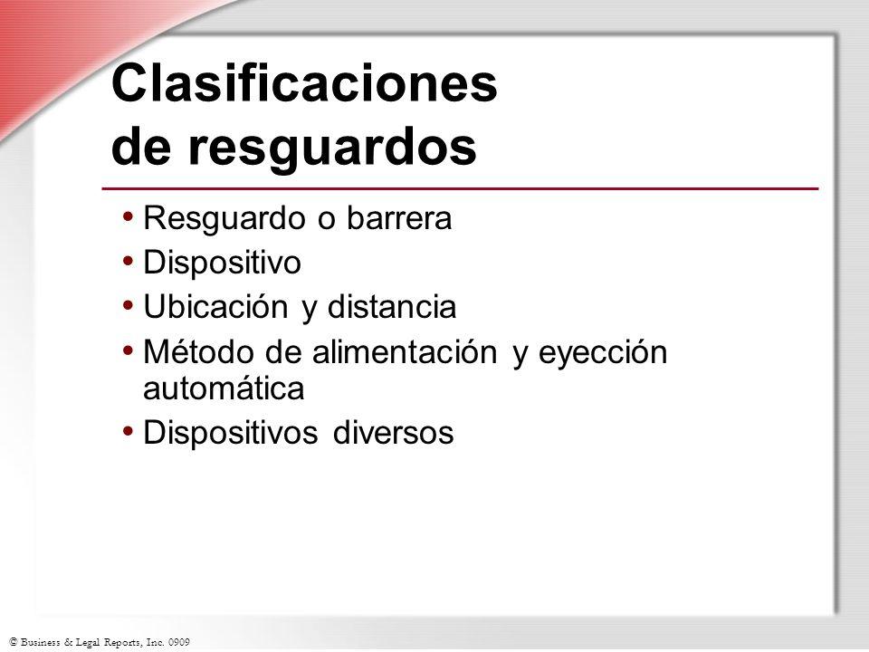 Clasificaciones de resguardos