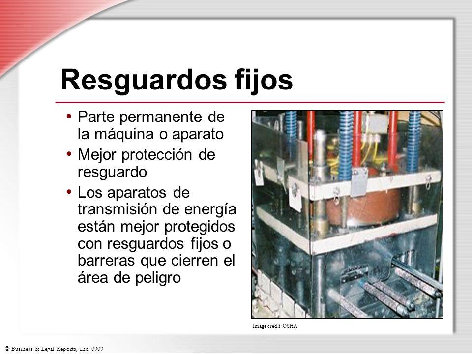 Resguardos fijos Parte permanente de la máquina o aparato