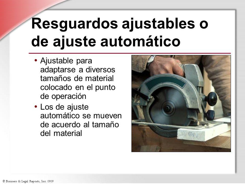 Resguardos ajustables o de ajuste automático