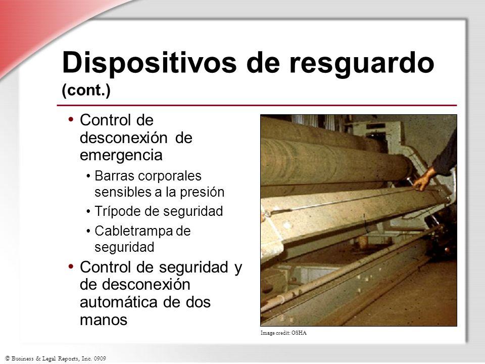 Dispositivos de resguardo (cont.)