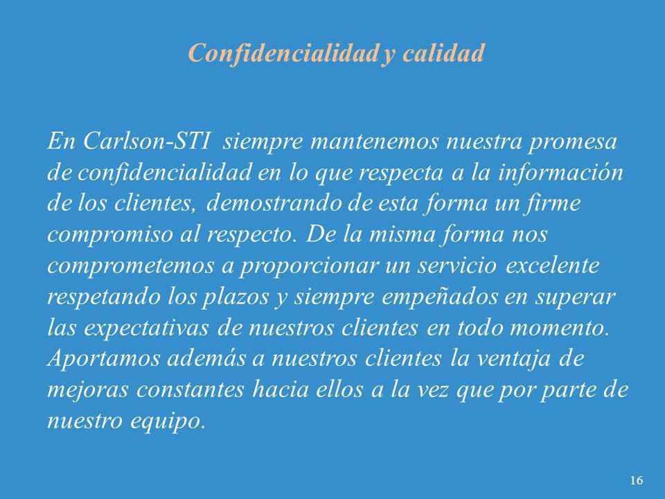 Confidencialidad y calidad