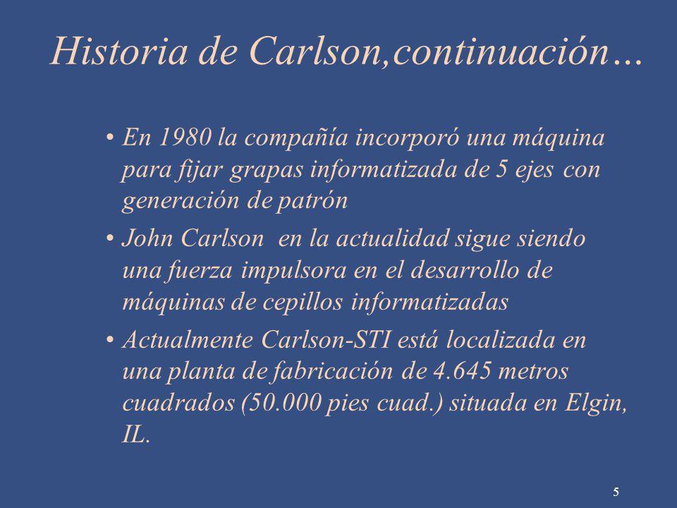 Historia de Carlson,continuación…