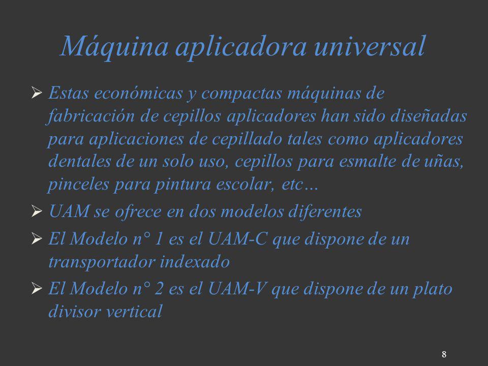Máquina aplicadora universal