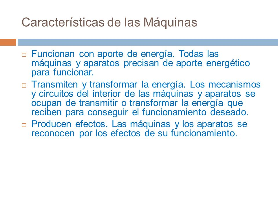 Características de las Máquinas