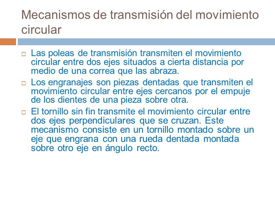 Mecanismos de transmisión del movimiento circular