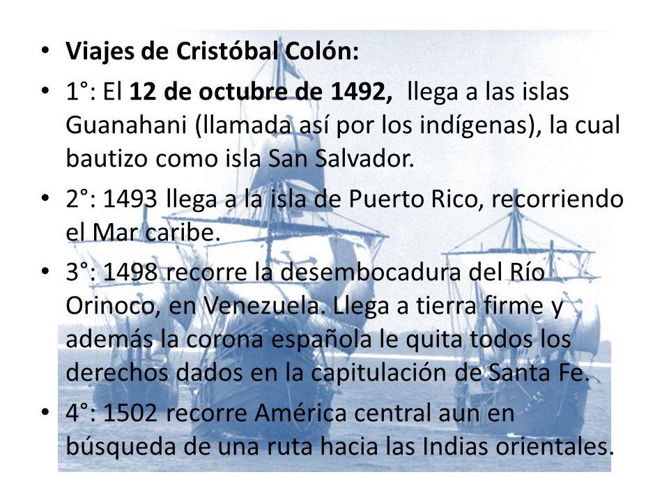 Viajes de Cristóbal Colón: