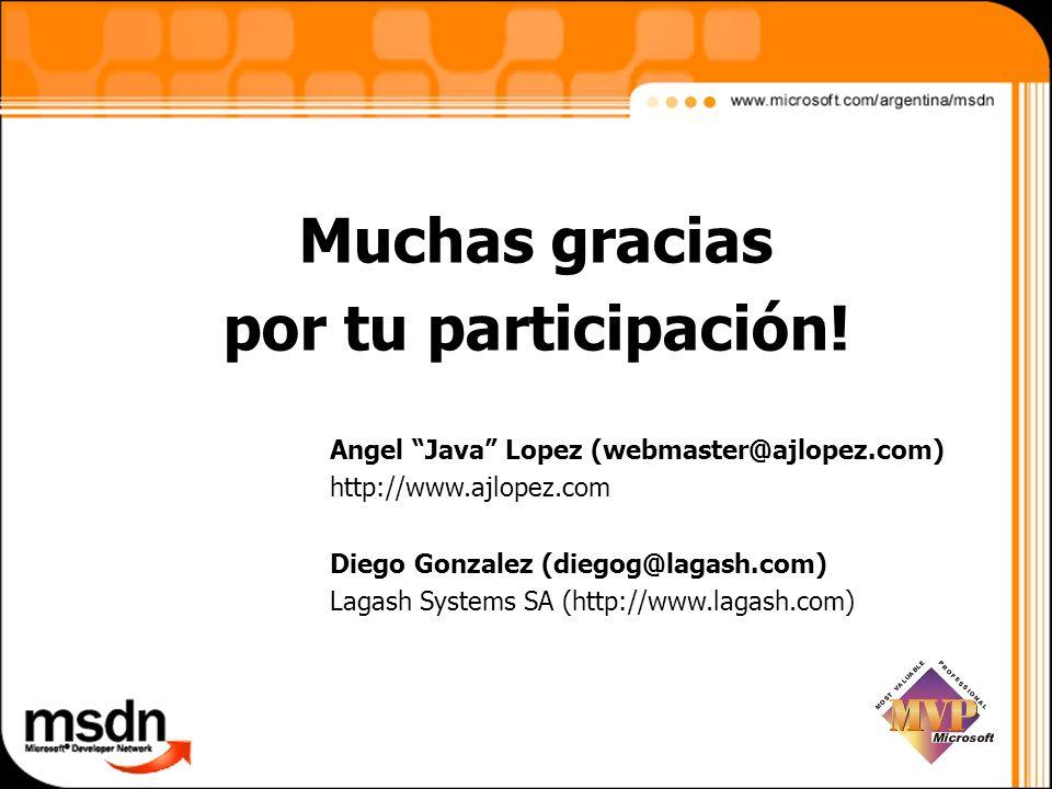 Muchas gracias por tu participación!