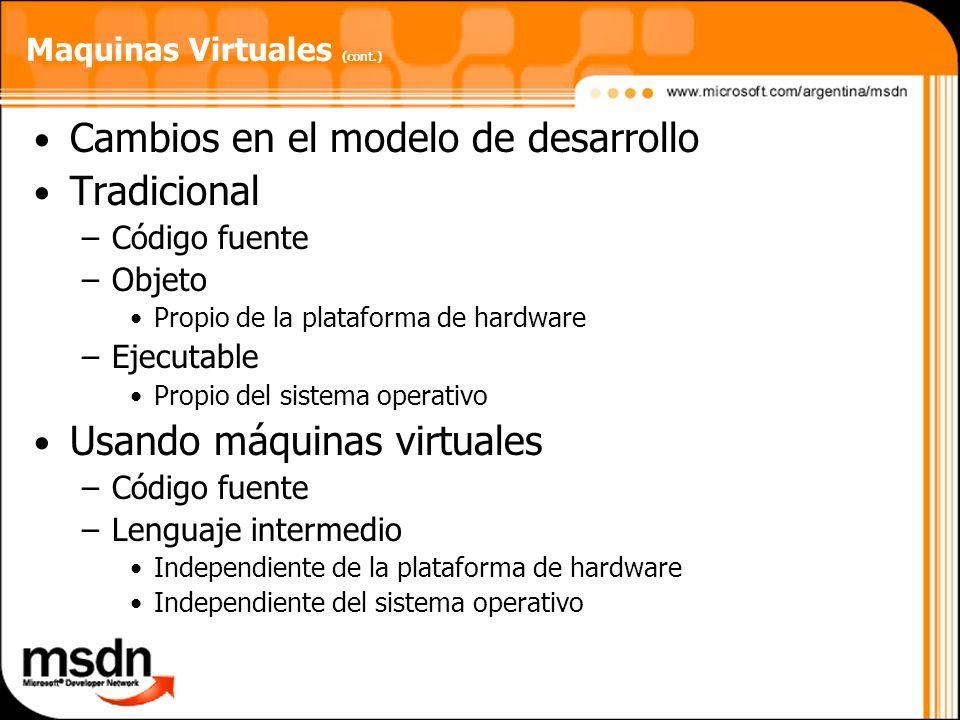 Maquinas Virtuales (cont.)