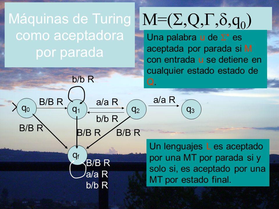 Máquinas de Turing como aceptadora por parada