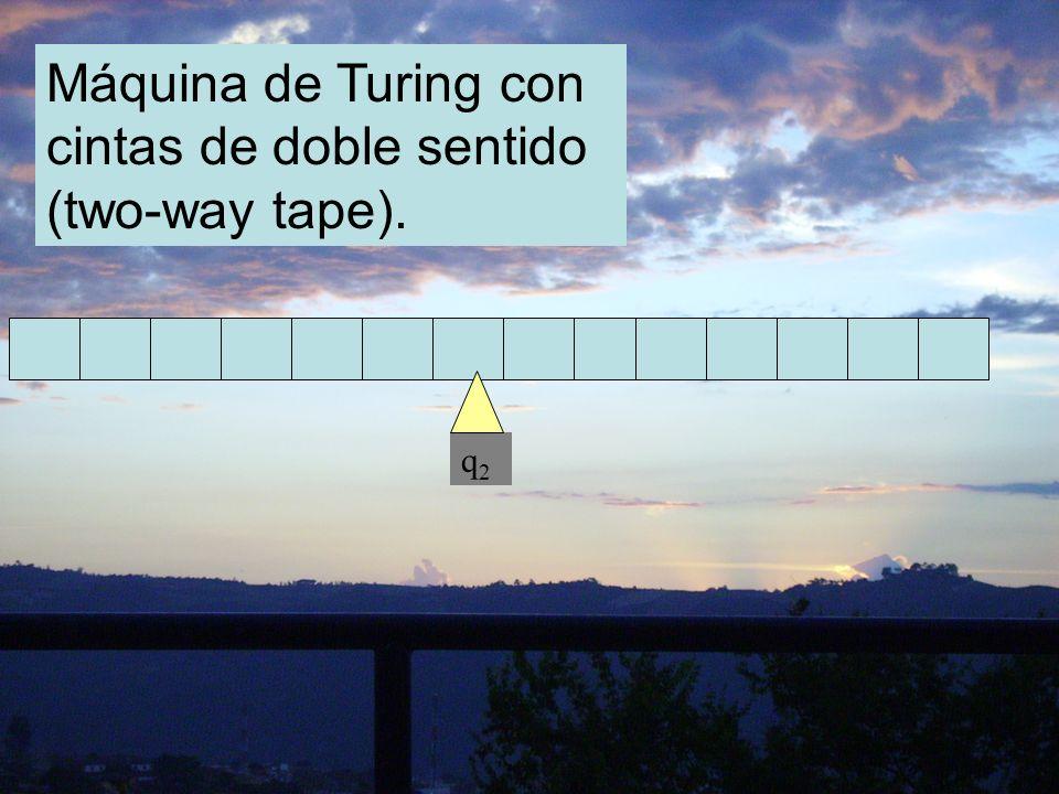 Máquina de Turing con cintas de doble sentido (two-way tape).