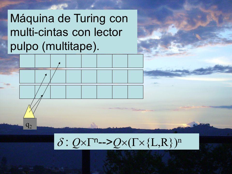 Máquina de Turing con multi-cintas con lector pulpo (multitape).