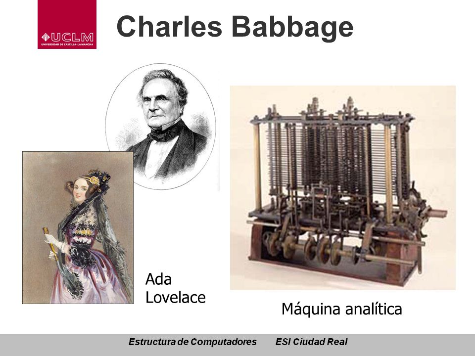 Charles Babbage Ada Lovelace Máquina analítica