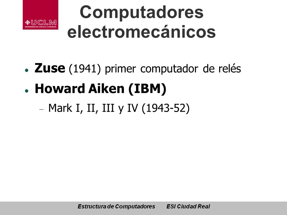 Computadores electromecánicos