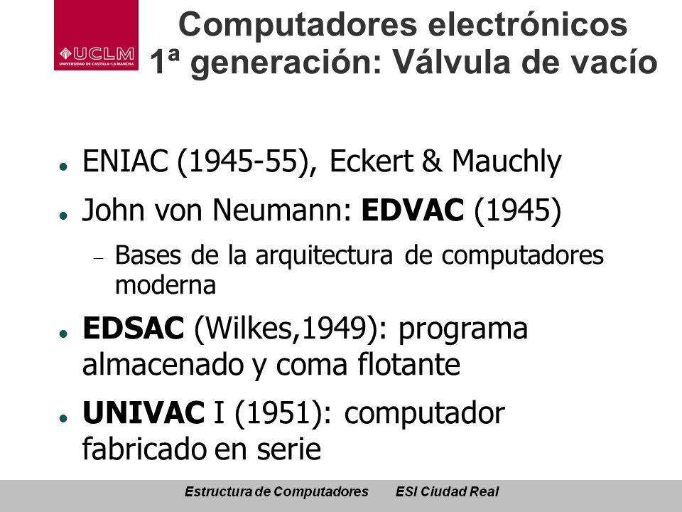 Computadores electrónicos 1ª generación: Válvula de vacío