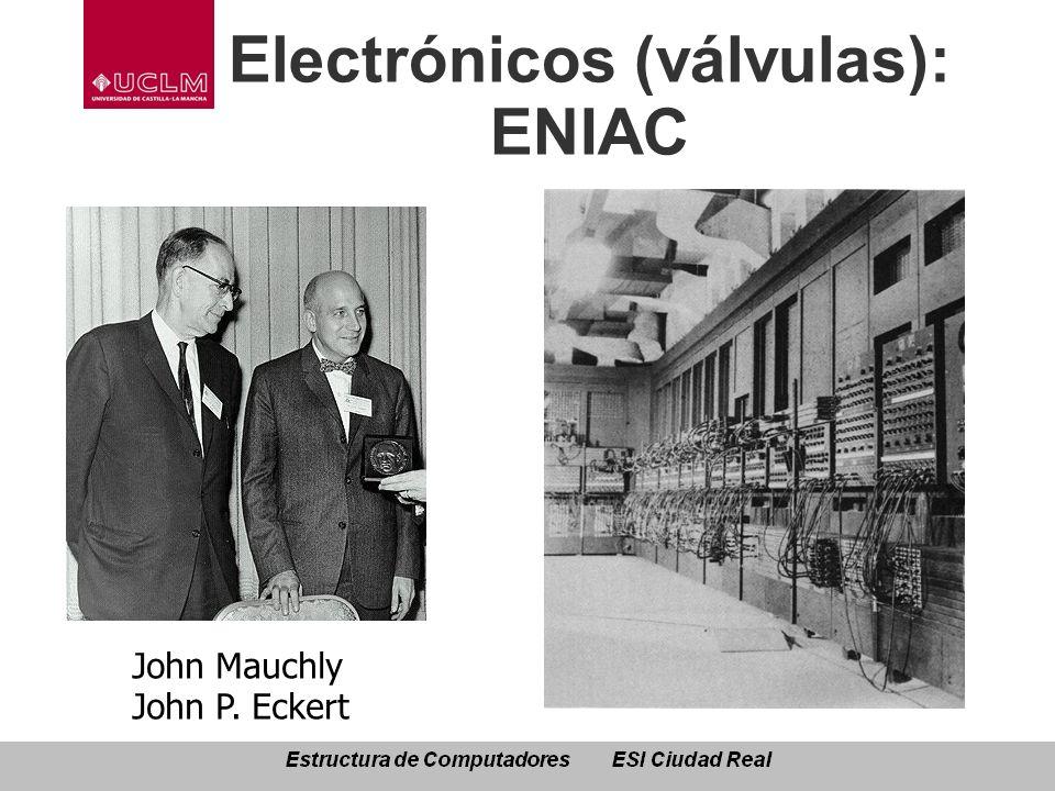 Electrónicos (válvulas): ENIAC