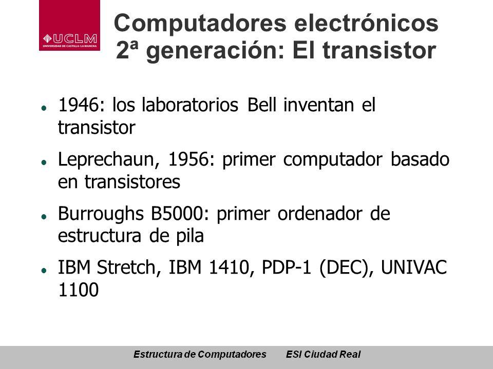 Computadores electrónicos 2ª generación: El transistor