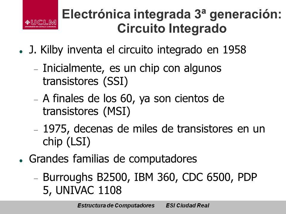Electrónica integrada 3ª generación: