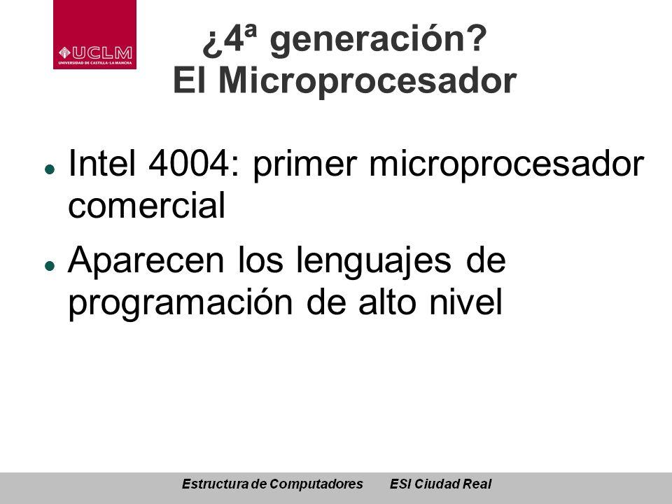 ¿4ª generación El Microprocesador